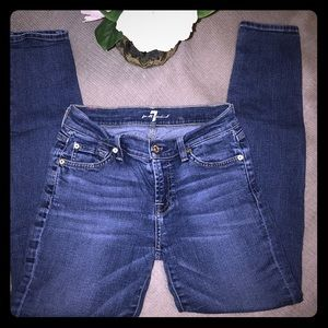 7 for all Mankind 'The Skinny' Ankle Jeans EUC 25